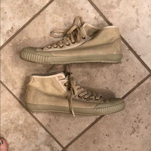 OTBT high top sneakers. Size 10. Khaki color.